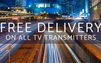 Free Delivery worldwide on all TV Transmitters.